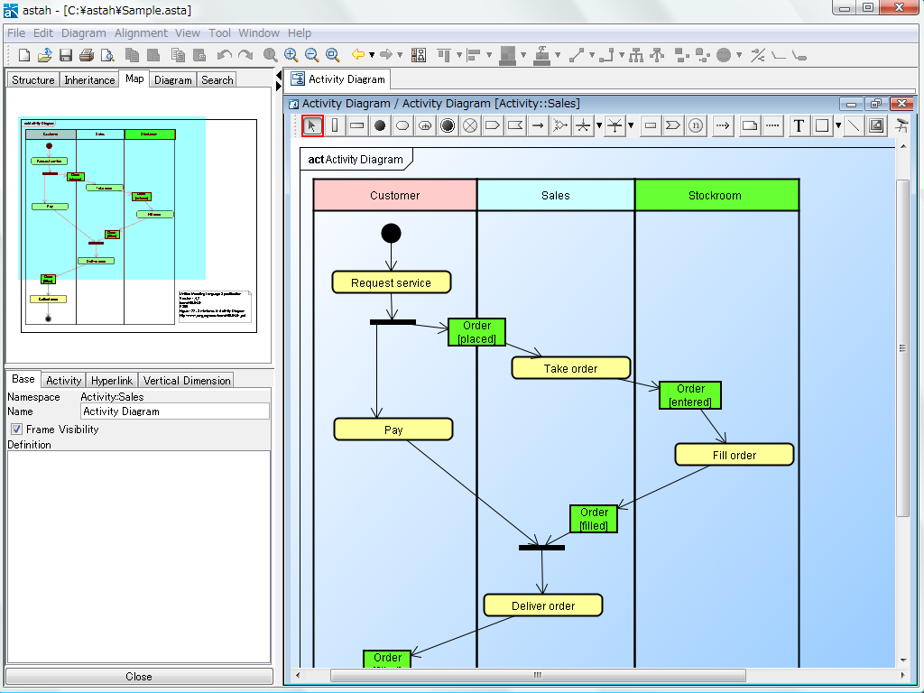 Astah 60 uml and mind map modeling dzone activitydiagramuml es sequencediagramuml es ccuart Images